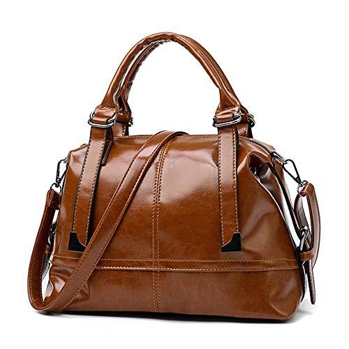 Brown Femmes Épaule Chers Sacs À En Des Huile Vintage Sac De Tuladuo Designer Main Qualité Portés Haute Cuir Bq6TwfH