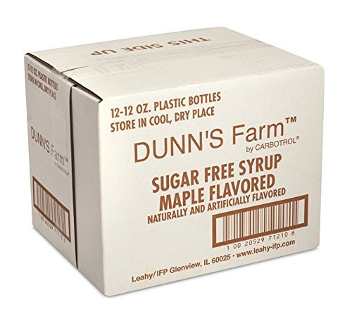 Low Calorie Dunns Farm Maple Pancake Syrup, 12 Ounce - 12 Case
