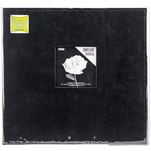 - Pioneer 12 Inch by 12 Inch Snapload Sewn Leatherette Frame Cover Memory Book, Black