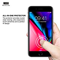 MDOutlet (3-Pack) iPhone 8 Plus, 7 Plus, 6S Plus, 6 Plus Screen Protector 9H Hardness Anti-Shatter Tempered Glass 99.9% HD Clarity and 3D Touch Accuracy (With Easy-Applicator) from MDOutlet