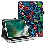 Fintie iPad 9.7 2018 2017 / iPad Air 2 / iPad Air Case - [Corner Protection] Multi-Angle Viewing Folio Cover w/Pocket, Auto Wake/Sleep for Apple iPad 6th / 5th Gen, iPad Air 1/2, Jungle Night