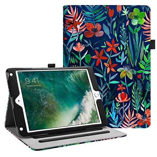 Fintie iPad 9.7 2018 2017 / iPad Air 2 / iPad Air Case - [Corner Protection] Multi-Angle Viewing Folio Cover w/Pocket, Auto Wake/Sleep for Apple iPad 6th / 5th Gen, iPad Air 1/2, Jungle Night