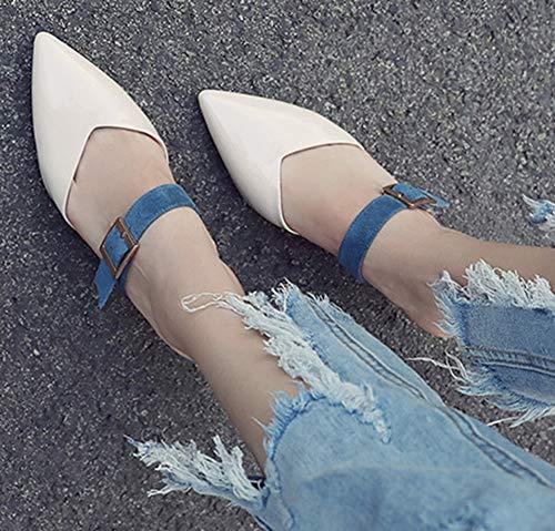 Beige Moyen Mules Talon Pointue Chaussure Femme Elégant Easemax g10UU