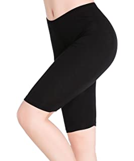 1a1e2f4db61e CnlanRow Womens Under Skirt Pants Soft Ultra Stretch Knee Length Leggings  Fitness Sport Shorts