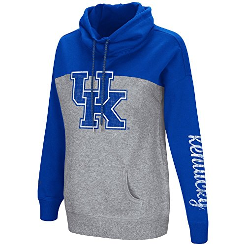 Colosseum Women's NCAA-Springboard Funnel Neck Hoodie Pullover Sweathsirt-Kentucky Wildcats-Royal-Small