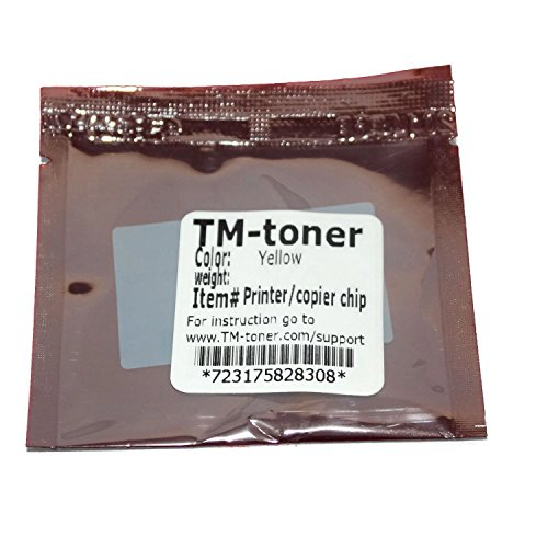 TM-toner © Replacement YELLOW chip for A03105F Imaging Unit Konica Minolta Magicolor 4650EN 4650DN 4690MF 5550 5570 5650EN 5670EN printer (Printer Laser 5650en)