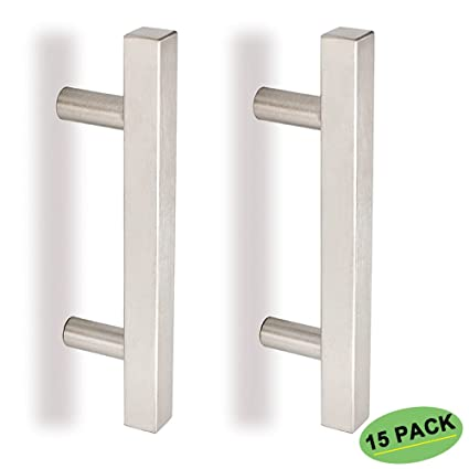 3.5 Inch Cabinet Pulls Brushed Nickel 15 Pack   Homdiy HDJ22SN Modern Cabinet  Drawer Pulls Stainless
