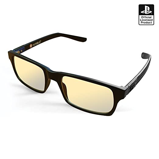 52d4e7a89c2 Sony PS4 Official Pro Anti-glare Protection Anti Fatigue Anti UV Blue Light  Block Glasses for PS4   PC   Xbox   PS3   Nintendo Switch  Amazon.co.uk  PC  ...