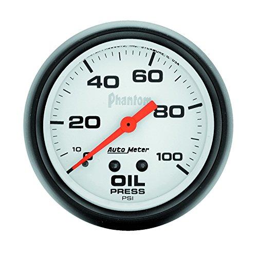 Phantom Electric Oil Pressure Gauge - Auto Meter 5821 Phantom Mechanical Oil Pressure Gauge
