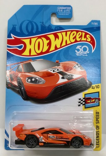 Hot Wheels 2018 50th Anniversary Legends of Speed 2016 Ford GT Race 71/365, (Gt Legend Wheels)