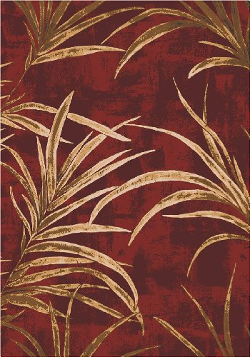 Milliken Top 30 Area Rug Tropic Russet Palm Ferns 3' 10