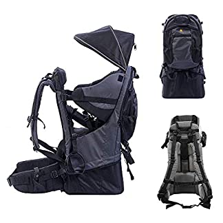 QINGTIAN Carrier Backpack Premium Comfort Lightweight Framed Baby Hiking Backpack Convertible Carrier For Hiking… 2