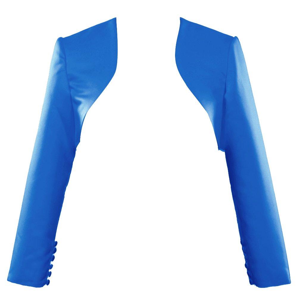 Dark bluee H.S.D Womens Modest Satin Long Sleeves Bolero Shrug