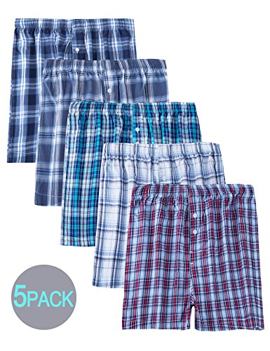 Tartan Boxers Underwear Covered Waistband