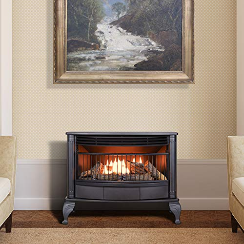 ProCom Ventless Dual Fuel Stove-25,000 BTU, Model QNSD250RT Gas Stove, Large, Black