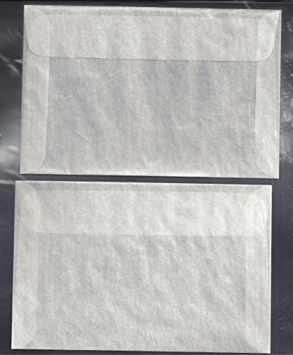 100 #7 Glassine Envelopes measuring 4 1/8 x 6 1/4 inches