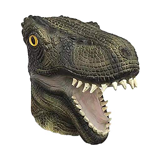SURPCOS Latex T-rex Dinosaur Mask, Novelty Funny Animal Hat Cap, Party Gift Dress up Cosplay Costume(Dinosaur)]()