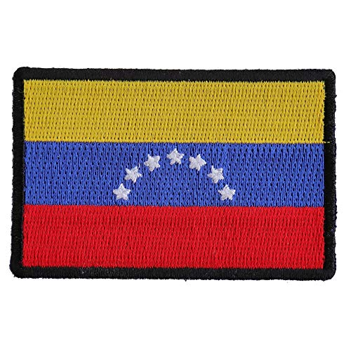 Venezuela Flag Patch - 3x2 inch. Embroidered Iron on -