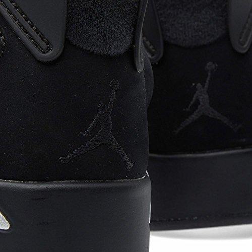 Nike Herren Air Jordan 6 Retro Basso Basketballschuhe Nero, Metallico Argento-bianco