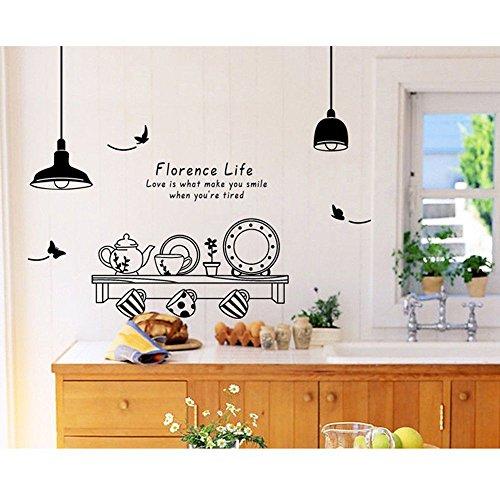 FidgetKute DIY Kitchen Utensils Butterfly Letter Removable Wall Stickers Art Decal Mural SY