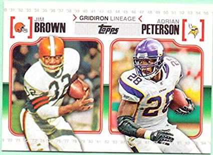 4fe0086f5 Jim Brown, Adrian Peterson 2010 Topps Gridiron Lineage #GL-BP - Cleveland  Browns