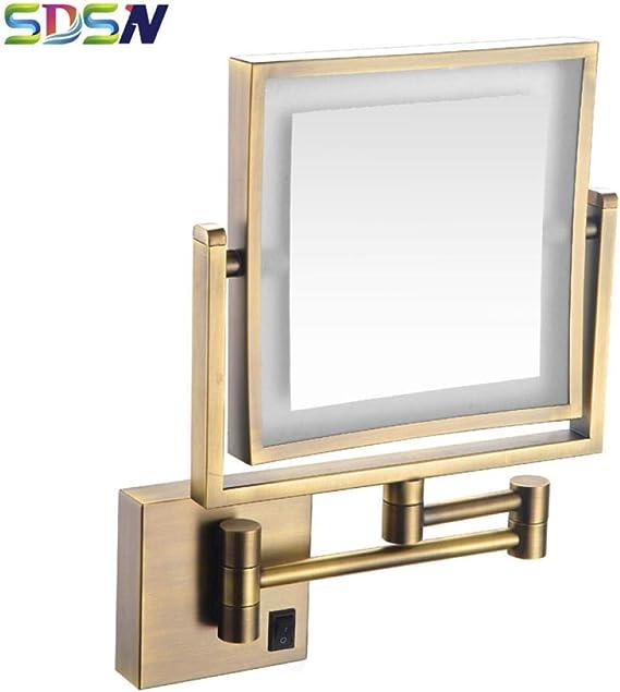 SHDJYR Espejo de baño LED Espejos de baño Antiguos Espejo cosmético Antiguo LED Moderno Baño montado en la Pared Espejos LED Espejo Antiguo: Amazon.es: Hogar