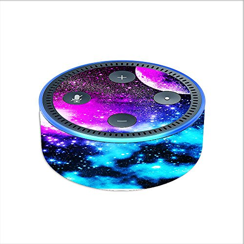 Skin Decal Vinyl Wrap for Amazon Echo Dot 2 stickers skins cover (2nd generation) / Galaxy Fluorescent
