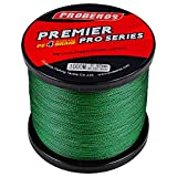 BAIKALBASS Superpower Braided Fishing Line 4 Strands Strong Multifilament PE Braid Wire for Saltwater 328Yard/300M 15LB Green