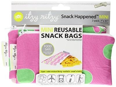 Itzy Ritzy Snack Happens 2 Count Snack Mini Reusable Snack Bag