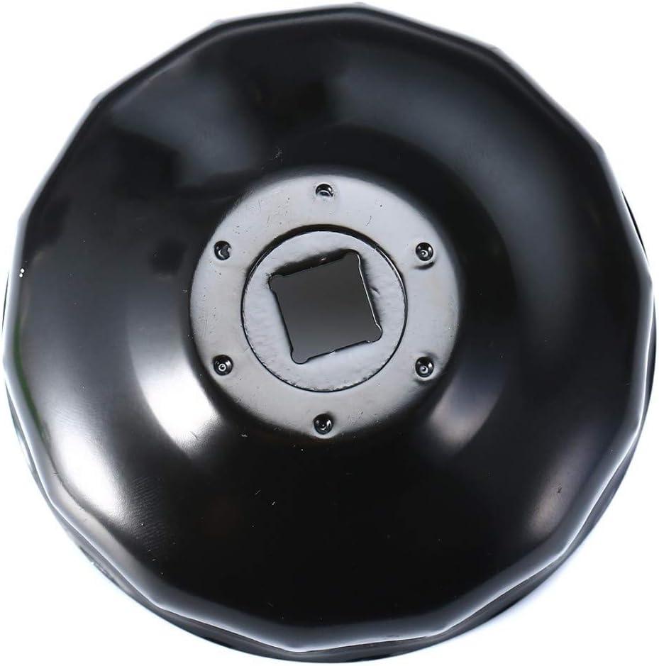 NO LOGO XJB-QCYGL 1pc en Acier Noir 74mm 14 Fl/ûte traversi/ère Filtre /à Huile Cl/é logement Cap Outil Socket Retrait for BMW Motorcycle K75 K100 R1100 R1150 R1200