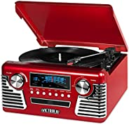 Victrola 50's Retro Bluetooth Record Player & Multimedia Center with Built-in Speakers - 3-Speed Turnt