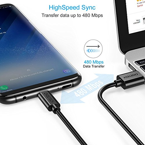 CHOETECH USB Type C Cable, USB C to USB A Fast Charging & Data Sync Cord (4-Pack, 2x3.3ft+2x6.6ft) Compatible Samsung Galaxy S9 S8 S8 Plus Note 8, Nintendo Switch,Nokia 8,LG G5, More by CHOETECH (Image #2)