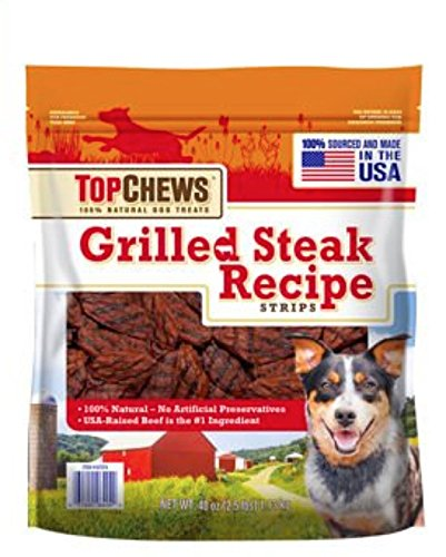 Top Chews Grilled Steak Recipe Strips 40 Oz (2.5 Lb) Grilled Steak Recipe Strips
