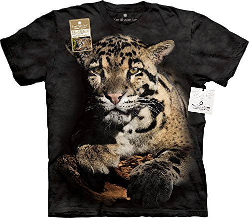 Clouded Leopard USA T-Shirt, Small, Black