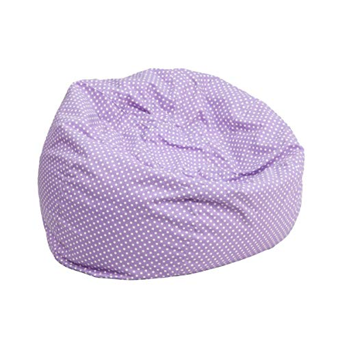 (JMiY Personalized Small Lavender Dot Kids Bean Bag Chair Embroidered with Your Child's)