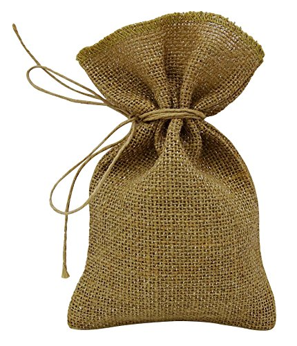 50 Natural Rustic Metallic Silver Jute Drawstring Favor Bag Wedding Party Small Gift Sack Pouches 8