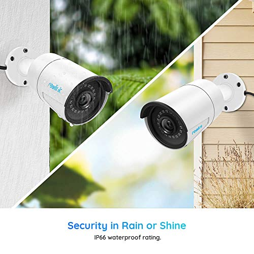 Reolink 5MP(2560x1920) PoE Camera Outdoor/Indoor IP Security Video Surveillance, IP66 Waterproof, Work with Google Assistant, IR Night Vision, Motion Detection Built-in Micro SD Socket, RLC-410-5MP
