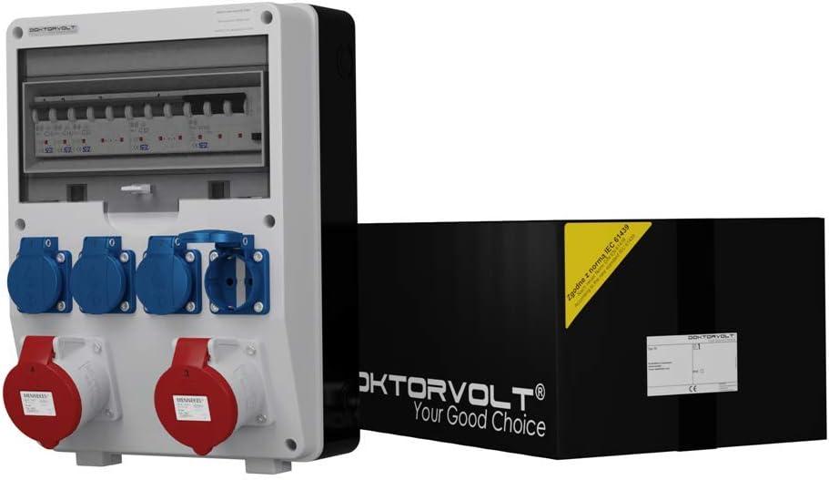 TD – Distribuidor de corriente S/FI 2 x 32 A 4 x 230 Diseño de distribución de Montado en la pared 2190