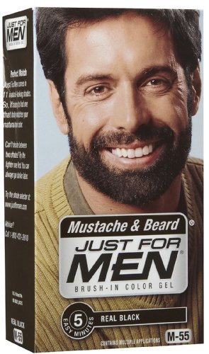 Just Men Mustache Beard Black
