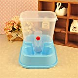 LVSEHUIYI Large Adjustable Automatic Pet Feeder Drinking Fountains Dog Bowl Water Dispenser For Dogs Cats Food Dish Eni013 Blue1 Size