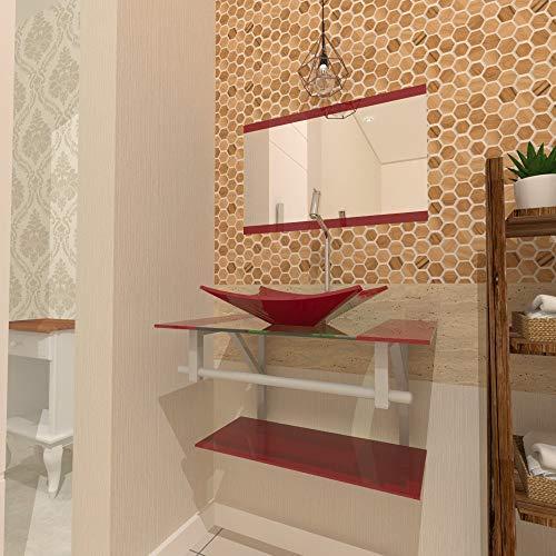 Gabinete Vidro 60cm banheiro Ucrânia