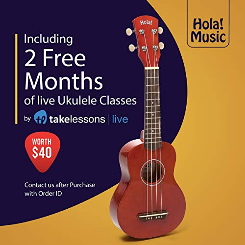 Hola! Music HM-21MG Soprano Ukulele Bundle with Canvas Tote Bag, Strap and Picks, Color Series - Mahogany by Hola! Music (Image #2)
