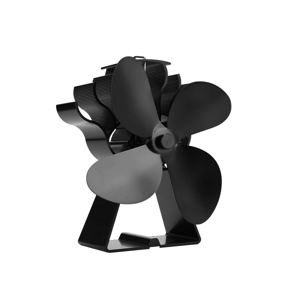 VIVOHOME Aluminum 4 Blade Heat Powered Stove Fan for Wood Burning and Circulating Warm by VIVOHOME