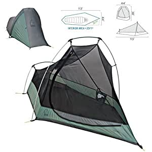 SIERRA DESIGNS LIGHTYEAR 1 PERSON TENT - O/S - N/A