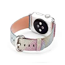 New arrival SD Trading Rainbow Bling Watch Band for Apple Watch iwatch & Sport & Edition 38mm