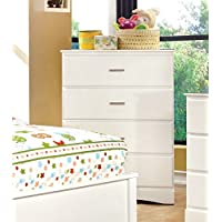Furniture of America Kolora Youth Chest of Drawers, White