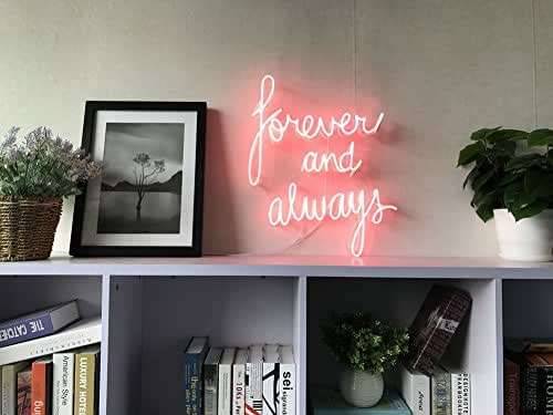 Amazon.com: Forever And Always Real Glass Neon Sign For Bedroom ...