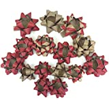 Card and Party Store 15 Pack Deluxe Bows Brown Paper Red Kraft Bow Quality Bows