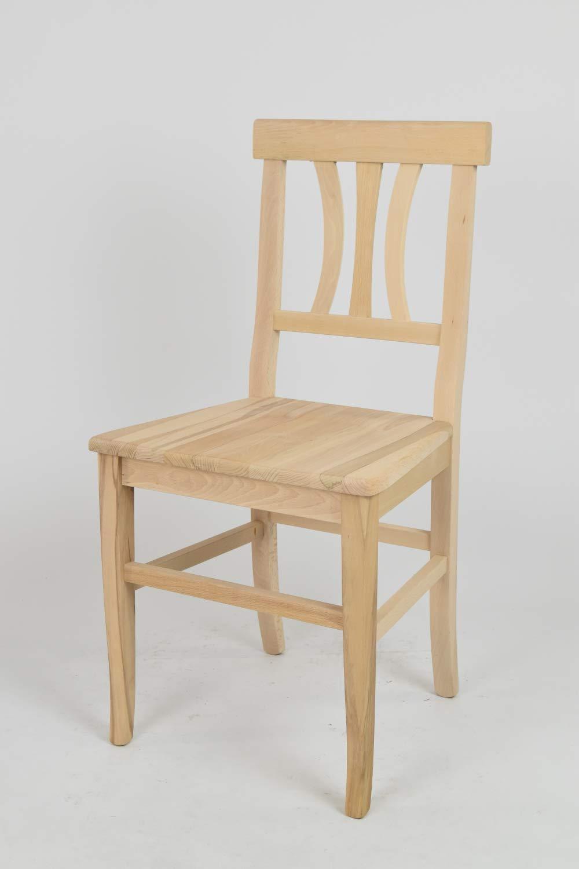 Tommychairs sedie di Design - Set 2 sedie Classiche Artemisia per Cucina, Bar e Sala da Pranzo, con Robusta Struttura in Legno di faggio Levigato, Non trattato, 100% Naturale e Seduta in Legno STOCKLINE