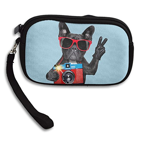 French Bulldog Lovers Fans Gift Comfortable Coin Purse Storage Package Wallet Zipper Mini Wallet For Men & Women